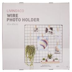 Living & Co Wire Photo Holder 65cm x 65cm