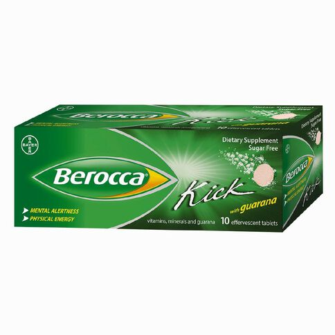 Berocca Kick with Guarana Effervescent Tablets 10s