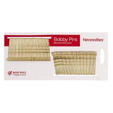 Necessities Brand Hair Bobby Pins Blonde 4.7cm 100 Pack