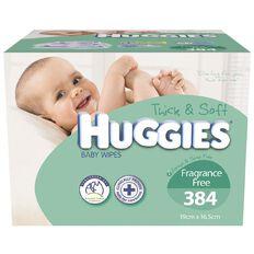 Huggies Baby Wipes Fragrance Free Mega 384 Pack