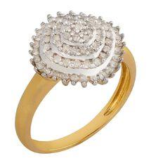 1/2 Carat of Diamonds 9ct Gold Diamond Pyramid Ring