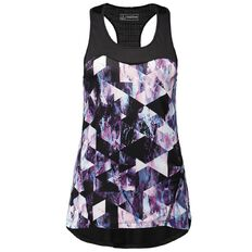 Active Intent Women's Printed Mesh Trim Singlet