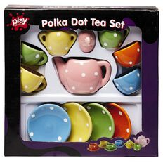 Play Studio Tea Set Polka Dot 13 Piece