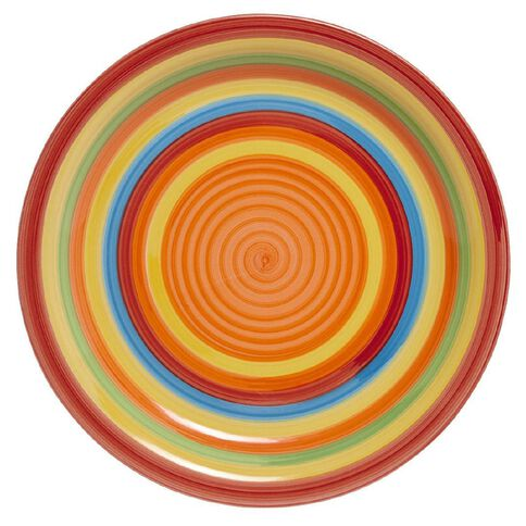 Living & Co Hand Painted Dinner Plate Rainbow 10.5 inch