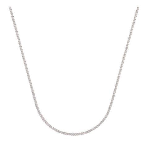 Sterling Silver Diamond Cut 60 Gauge Curb Chain 50cm
