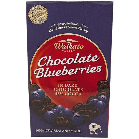 Waikato Valley Chocolates Dark Chocolate Blueberries Pouch 120g
