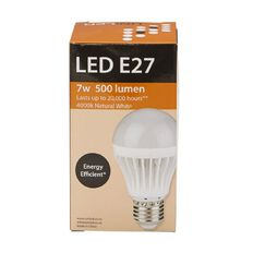 UniLED Screw Type A70 7W 510 Lumens E27 Natural White