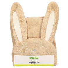 Babywise Coral Fleece Hooded Bunny Blanket