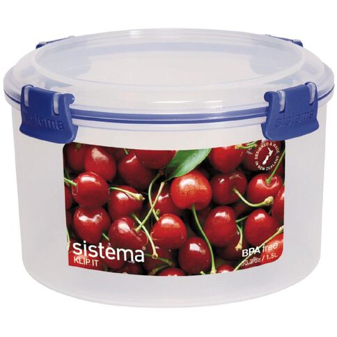 Sistema Klip It Blue Round Container 1.5L
