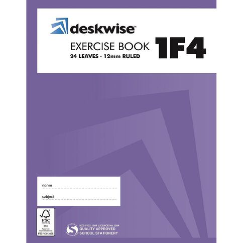 Deskwise Exercise Book 1F4 12mm 24 Leaf