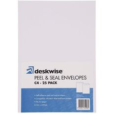 Deskwise Envelope C4 Pocket Premium 25 Pack