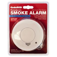 CodeRED Photoelectric Bedroom/Hallway Smoke Alarm with Hush