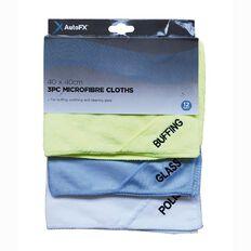 Auto FX Microfibre Cloths 3 Pack 40cm x 40cm