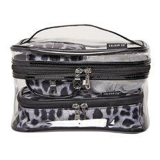 Colour Co. Toiletry Bag Clear Train Case Animal 6 Piece