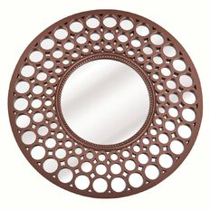 Design House Mirror Copper Metal 63cm