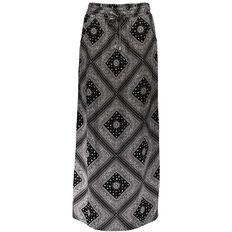 Garage Woven Maxi Bandana Skirt