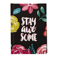 Paper Scissors Rock Notebook Hardcover Summer Flowers A6
