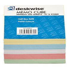 Deskwise Memo Cube Refill Coloured 500 Sheets