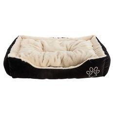 Lil Buddy Dog Bed Super Soft Rectangle Gold  Medium