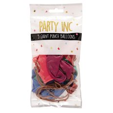 Party Inc Giant Punch Balloons 5 Pack