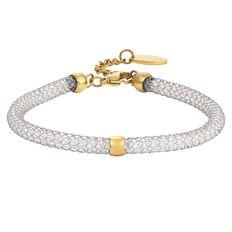 Stainless Steel Fishnet Tube Bracelet