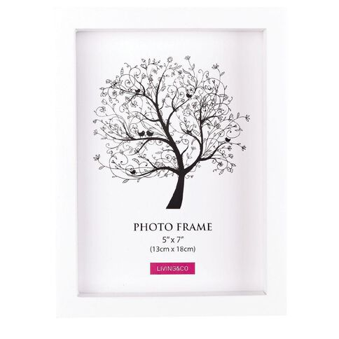 Living & Co Frame Eden White 5in x 7in