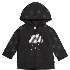 Hippo + Friends Baby Boy Print Cloud Sweatshirt