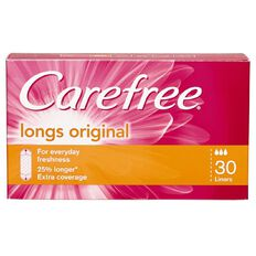 Carefree Pantyliners Long 30 Pack