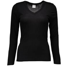 Basics Brand Women's Thermal Polyviscose Long Sleeve Top