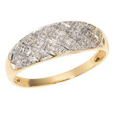 9ct Gold Diamond Pave Ring