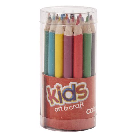Kids' Art & Craft Kids Play Colour Pencils in PVC Pod 24 Pack