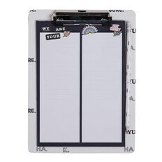 Paper Scissors Rock Squad Goals Magnetic Board with Clip Pad & Pencil