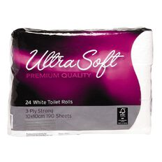 Ultra Soft Premium Toilet Tissues 3-Ply 190 Sheets 24 Pack
