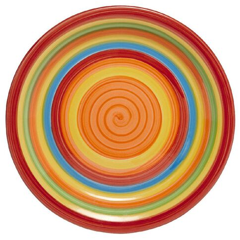 Living & Co Hand Painted Side Plate Rainbow 7.5 inch
