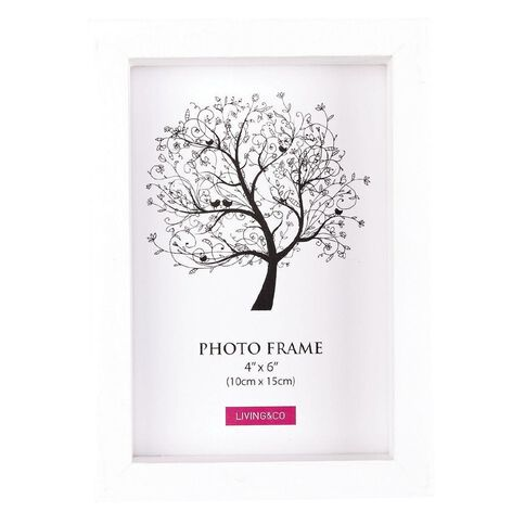 Living & Co Frame Eden White 4in x 6in