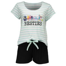 Trolls Women's Short Sleeve Short Leg Knit Pyjamas
