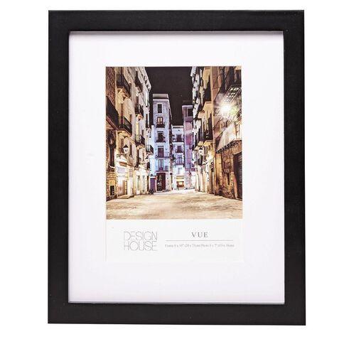 Design House Frame Vue Black 8in x 10in (5in x 7in)