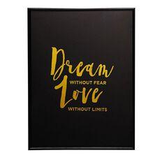 Living & Co Framed Art Dream Love 30cm x 40cm