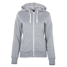 Basics Brand Women's Plain Zip-Thru Hoodie