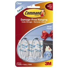 Command Clear Small Hooks with Clear Strips