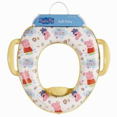 Peppa Pig Make Believe Soft Potty Toilet Trainer Seat with Handles