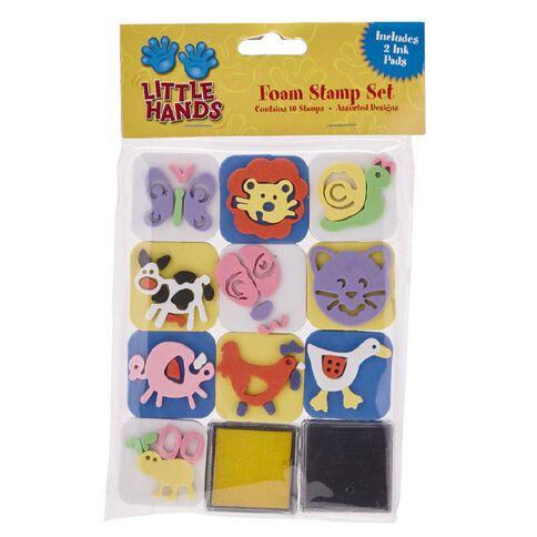 Little Hands EVA Foam Stamp Set Animals 10 Piece 2 Pads