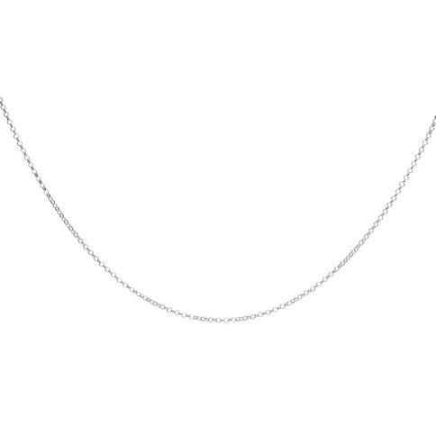 Sterling Silver Round Belcher Chain 50cm
