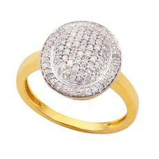 1/2 Carat of Diamonds 9ct Gold Oval Ring