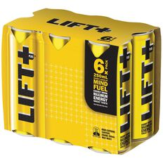 Lift Plus Cans Energy Drink 250ml 6 Pack