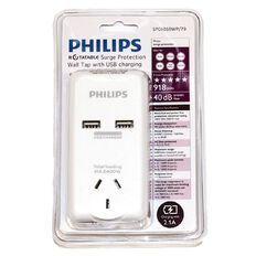 Philips 981J Surge Protector with 2 USB Charge Ports