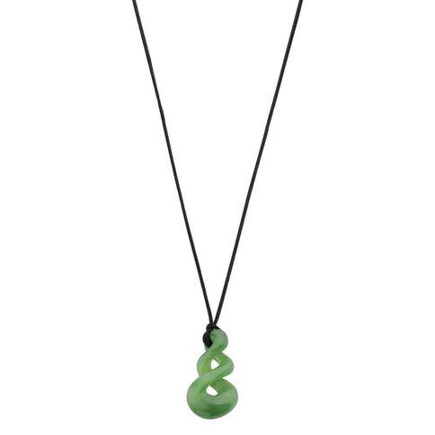 Jade Small Triple Twist Pendant