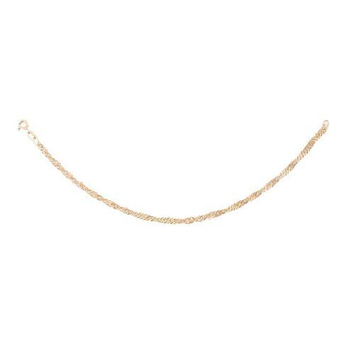 9ct Gold Singapore Bracelet 19cm
