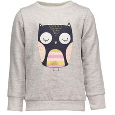 Hippo + Friends Toddler Girl Pull Over Print Sweatshirt