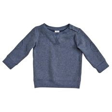 Hippo + Friends Baby Boy Plain Sweatshirt